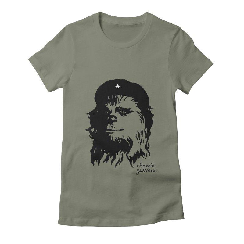 Chewie Guevara Women's Fitted T-Shirt by vonbrandis's Artist Shop