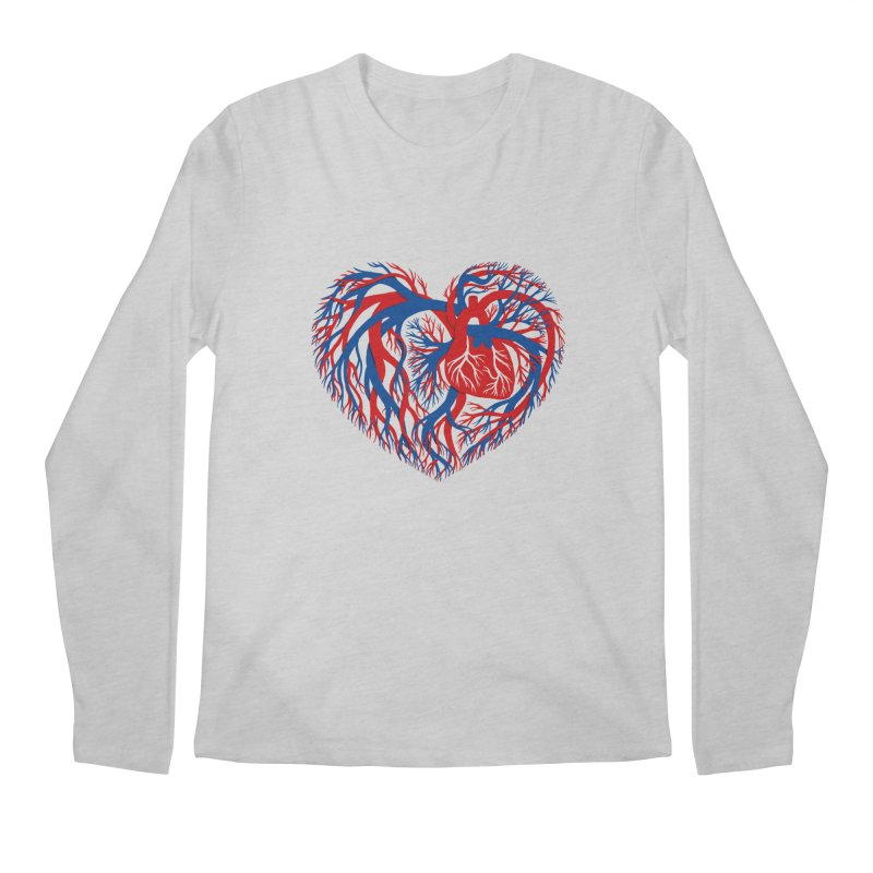 All Heart Men's Longsleeve T-Shirt by vonbrandis's Artist Shop