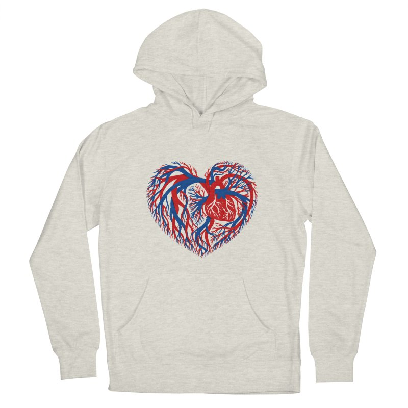 All Heart Men's French Terry Pullover Hoody by vonbrandis's Artist Shop