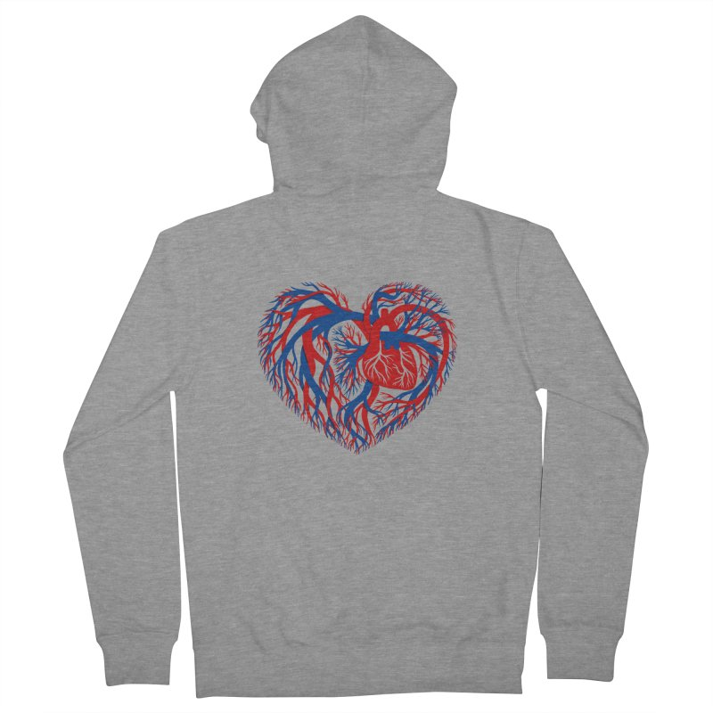 All Heart Men's French Terry Zip-Up Hoody by vonbrandis's Artist Shop