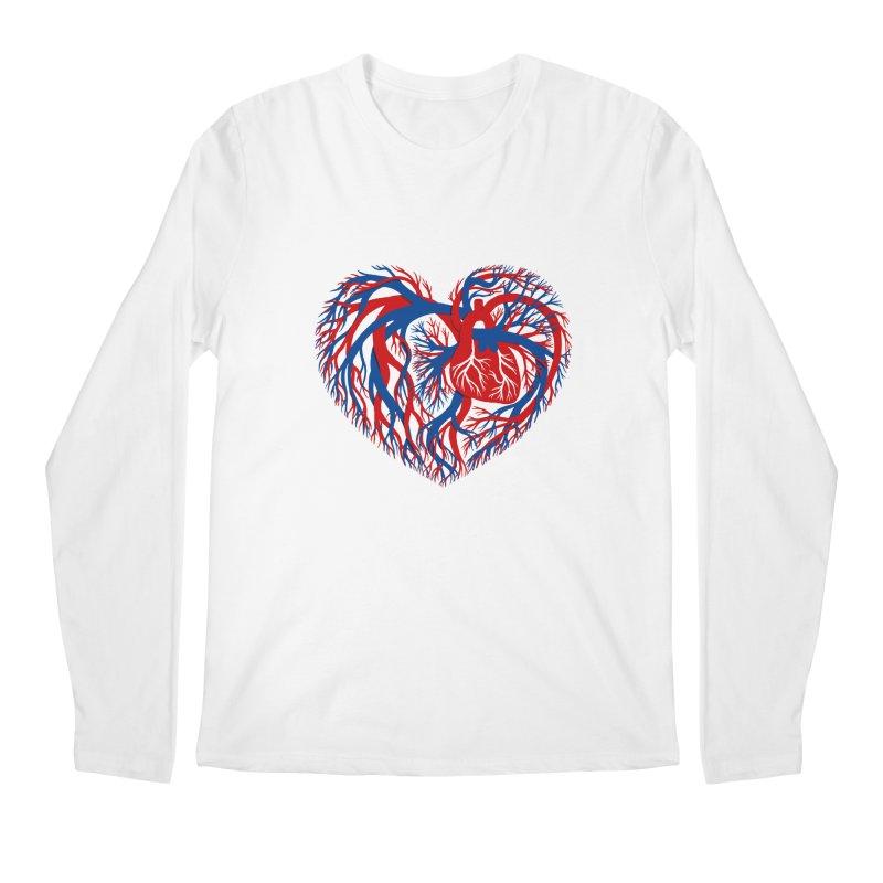 All Heart Men's Regular Longsleeve T-Shirt by vonbrandis's Artist Shop