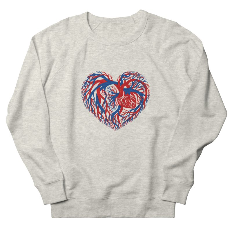 All Heart Women's French Terry Sweatshirt by vonbrandis's Artist Shop
