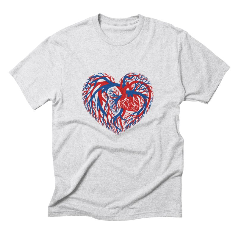 All Heart Men's Triblend T-Shirt by vonbrandis's Artist Shop