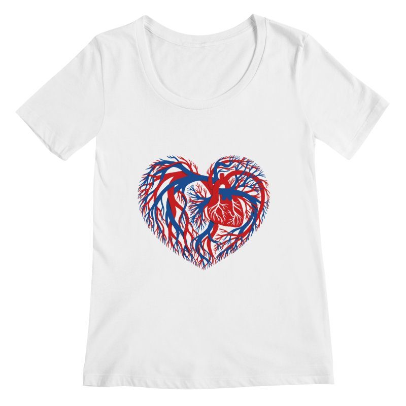 All Heart Women's Regular Scoop Neck by vonbrandis's Artist Shop
