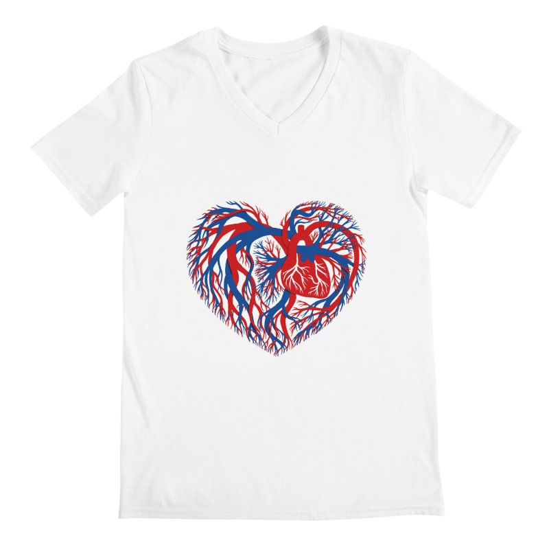 All Heart Men's V-Neck by vonbrandis's Artist Shop