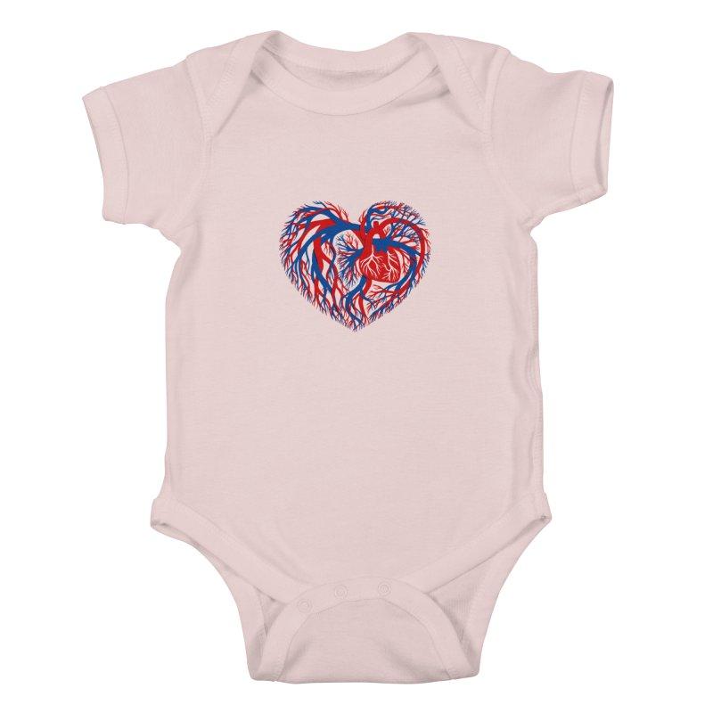 All Heart Kids Baby Bodysuit by vonbrandis's Artist Shop