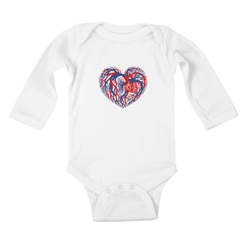 All Heart Kids Baby Longsleeve Bodysuit by vonbrandis's Artist Shop