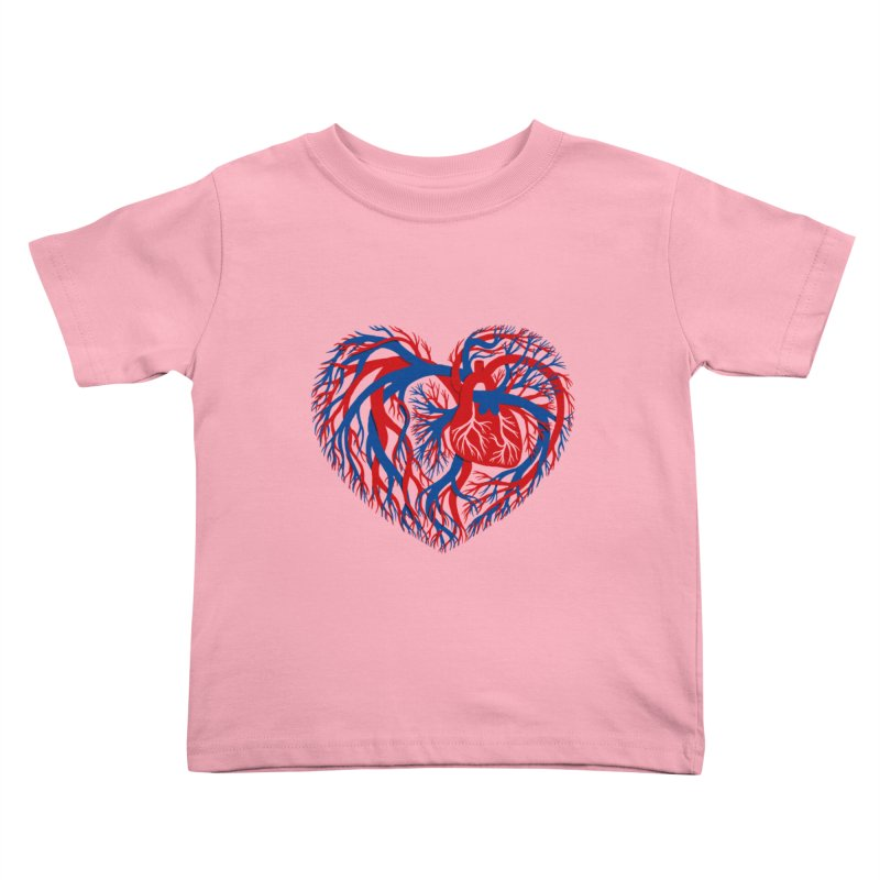 All Heart Kids Toddler T-Shirt by vonbrandis's Artist Shop