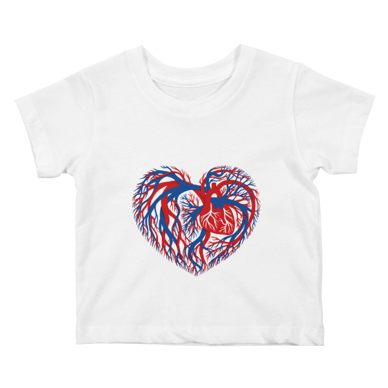All Heart Kids Baby T-Shirt by vonbrandis's Artist Shop