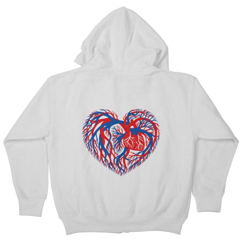 All Heart Kids Zip-Up Hoody by vonbrandis's Artist Shop