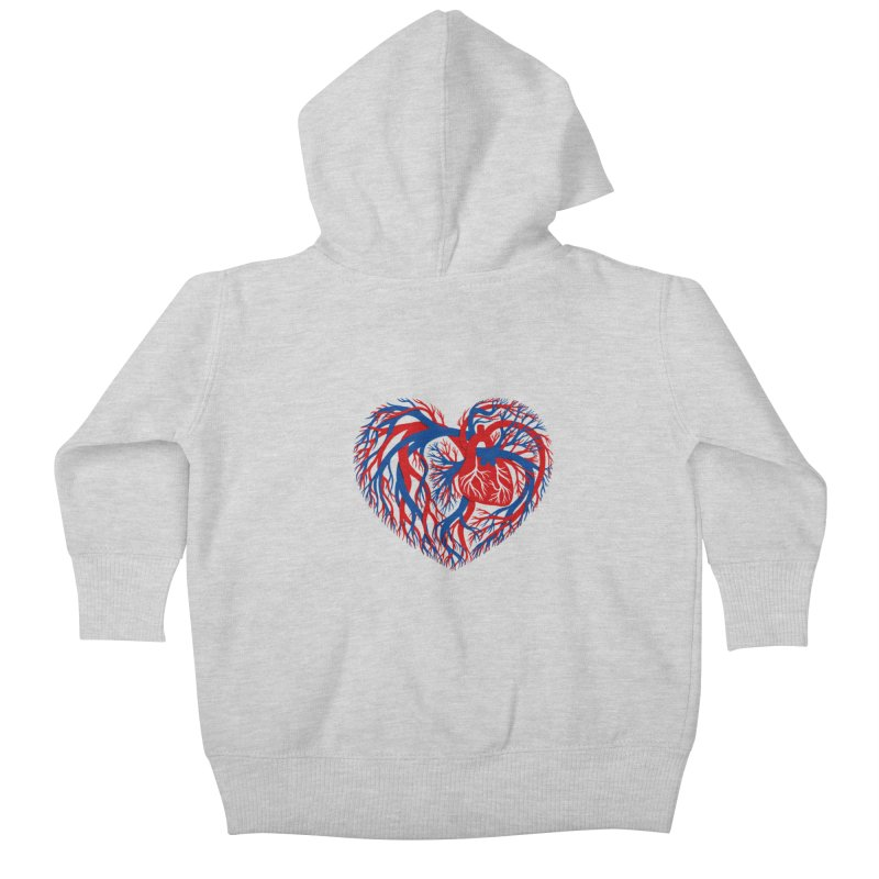 All Heart Kids Baby Zip-Up Hoody by vonbrandis's Artist Shop