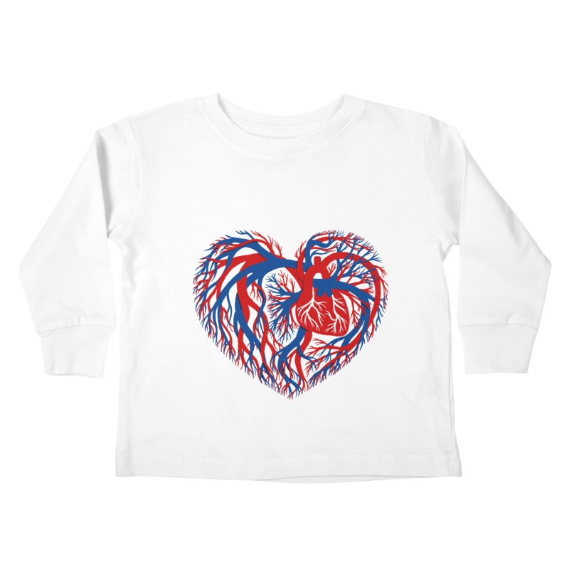 All Heart Kids Toddler Longsleeve T-Shirt by vonbrandis's Artist Shop