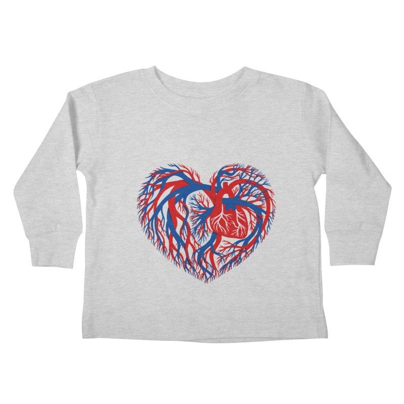 All Heart Kids Toddler Longsleeve T-Shirt by vonbrandis's Artist Shop