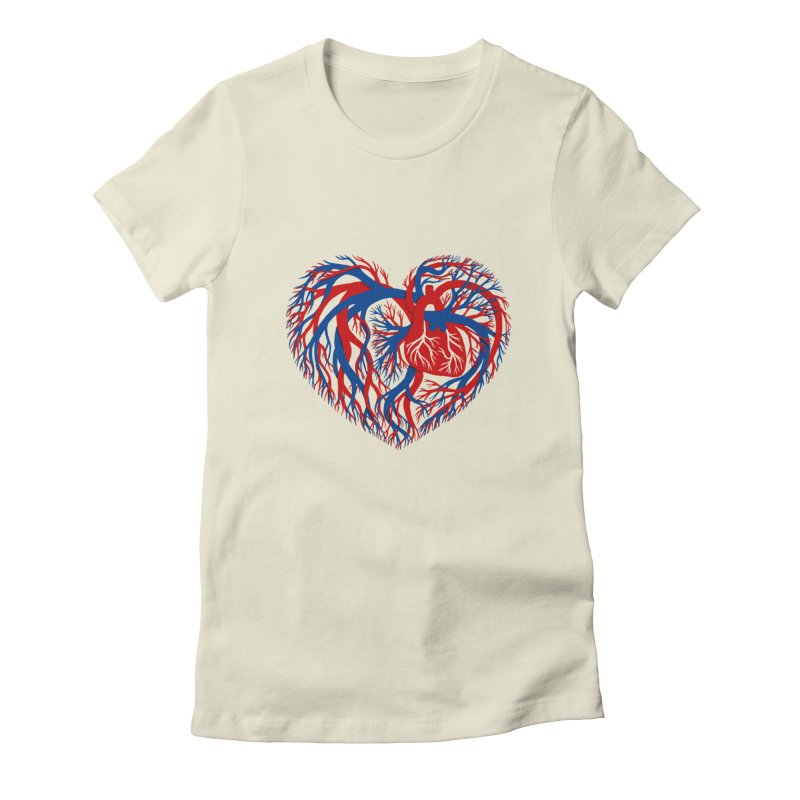 All Heart Women's T-Shirt by vonbrandis's Artist Shop