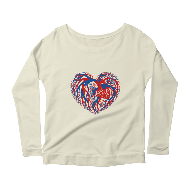 All Heart Women's Longsleeve Scoopneck  by vonbrandis's Artist Shop