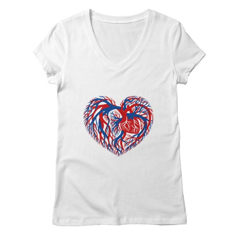 All Heart Women's Regular V-Neck by vonbrandis's Artist Shop