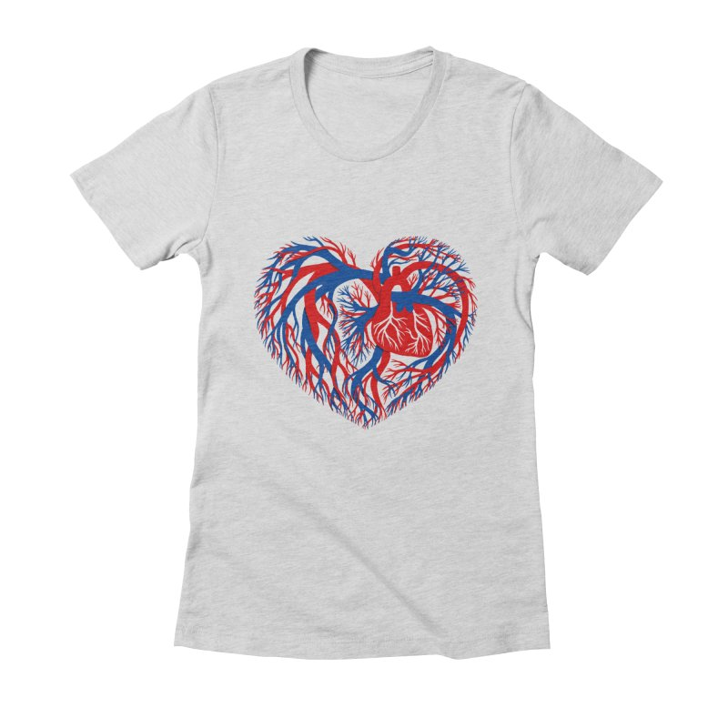All Heart Women's Fitted T-Shirt by vonbrandis's Artist Shop