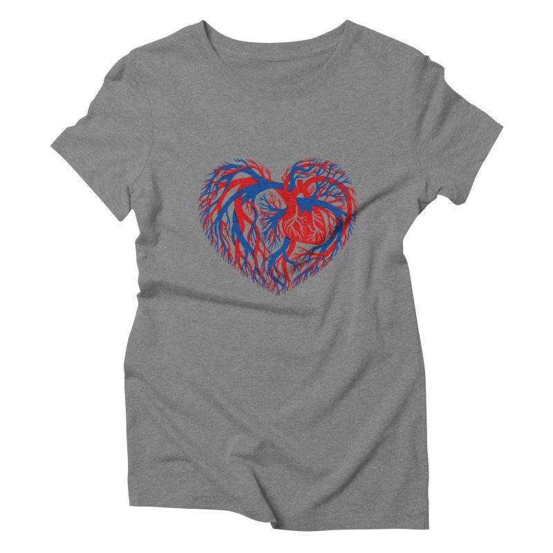 All Heart Women's Triblend T-Shirt by vonbrandis's Artist Shop