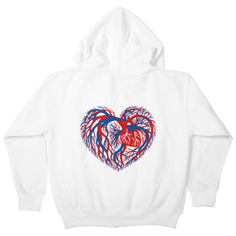 All Heart Kids Zip-Up Hoody by vonbrandis's Artist Shop