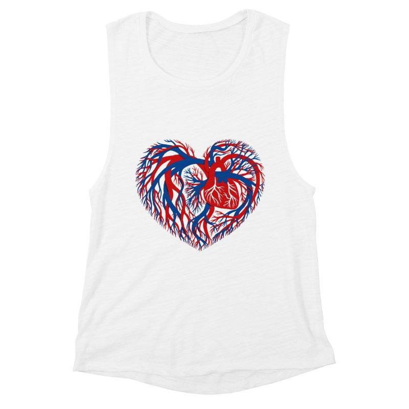 All Heart Women's Muscle Tank by vonbrandis's Artist Shop