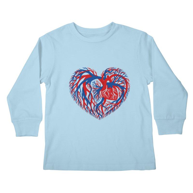 All Heart Kids Longsleeve T-Shirt by vonbrandis's Artist Shop