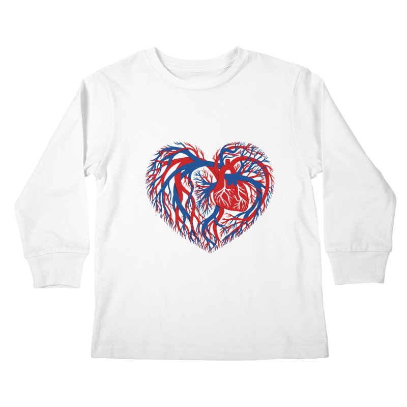 All Heart Kids Longsleeve T-Shirt by vonbrandis's Artist Shop