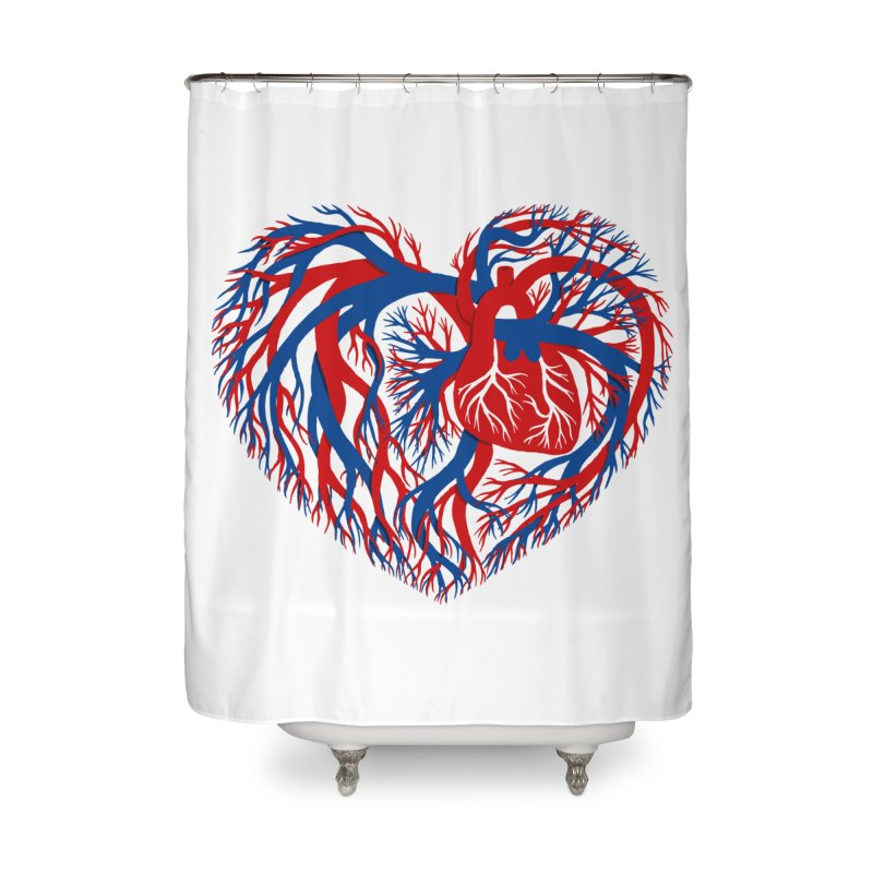All Heart Home Shower Curtain by vonbrandis's Artist Shop