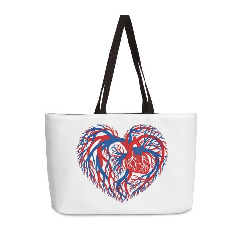 All Heart Accessories Weekender Bag Bag by vonbrandis's Artist Shop