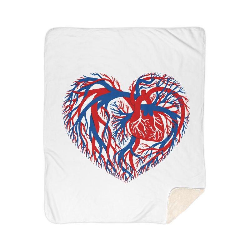 All Heart Home Sherpa Blanket Blanket by vonbrandis's Artist Shop