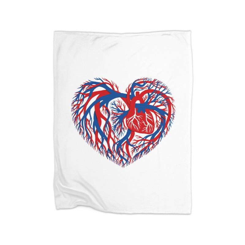 All Heart Home Fleece Blanket Blanket by vonbrandis's Artist Shop