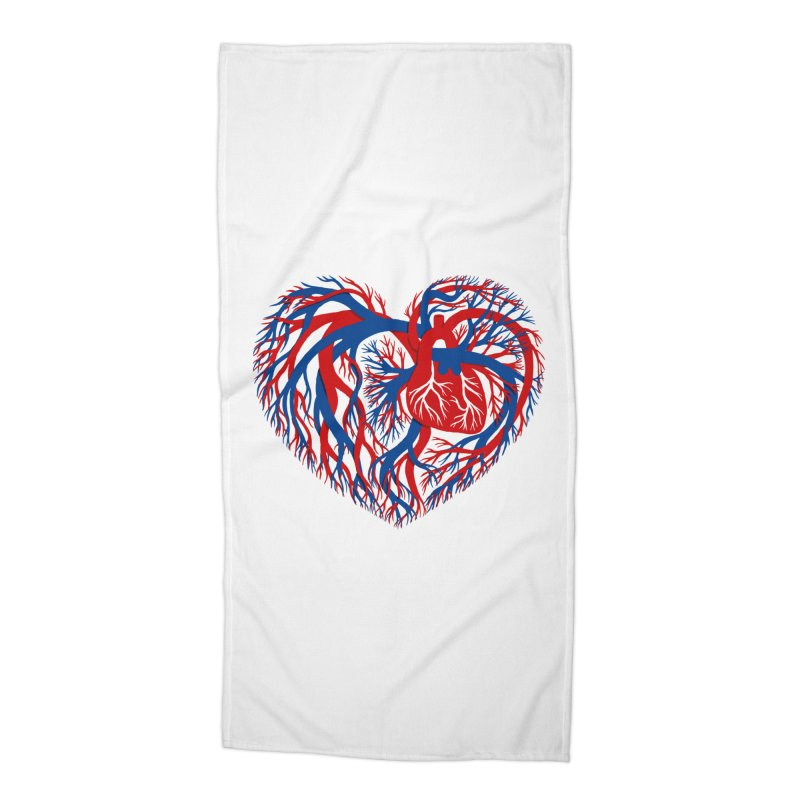 All Heart Accessories Beach Towel by vonbrandis's Artist Shop