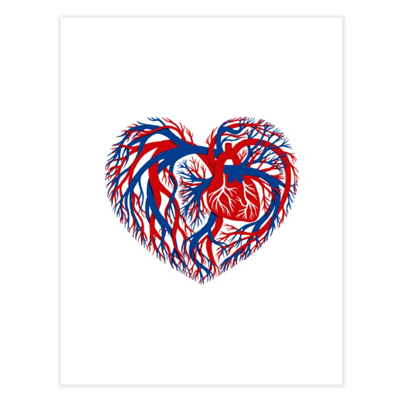 All Heart Home Fine Art Print by vonbrandis's Artist Shop