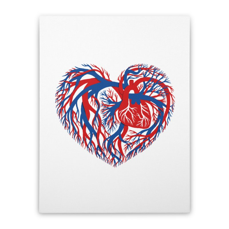 All Heart Home Stretched Canvas by vonbrandis's Artist Shop