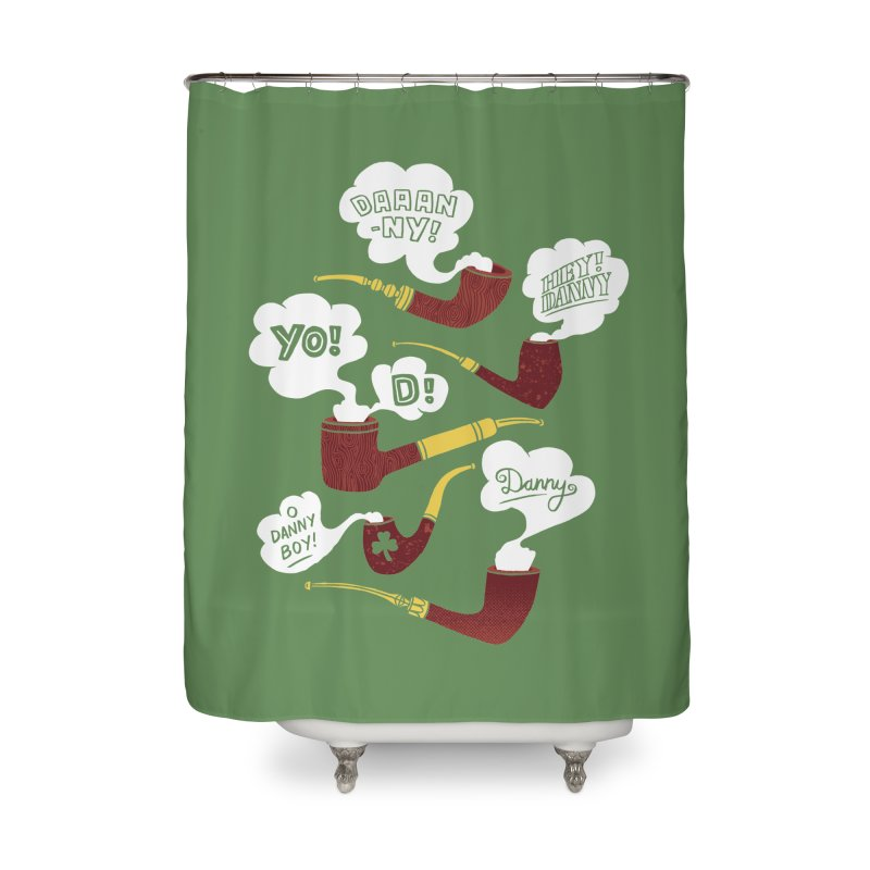 Danny Boy Home Shower Curtain by vonbrandis's Artist Shop