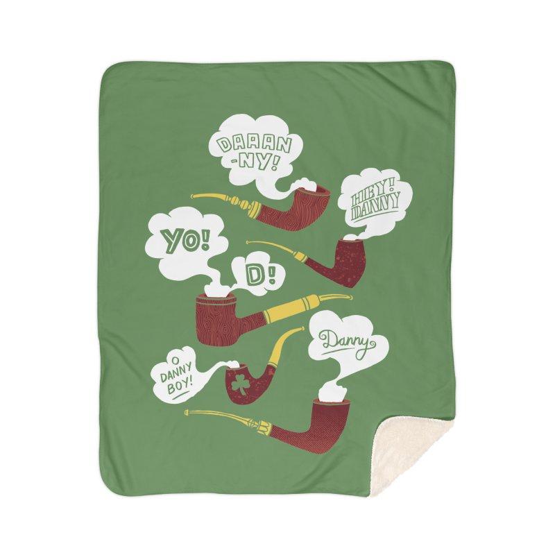 Danny Boy Home Sherpa Blanket Blanket by vonbrandis's Artist Shop