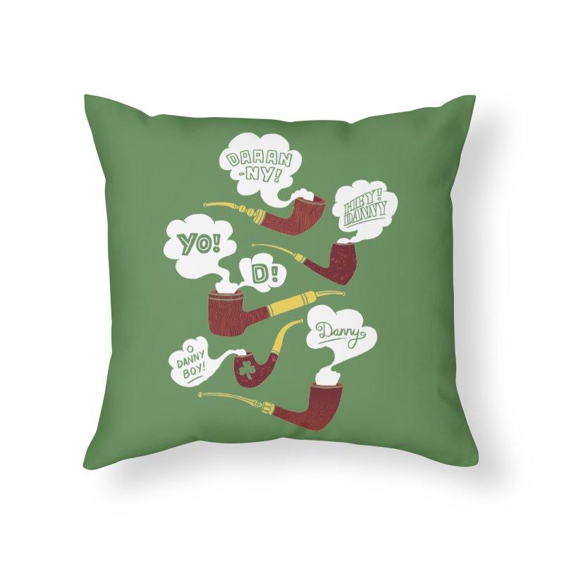 Danny Boy Home Throw Pillow by vonbrandis's Artist Shop