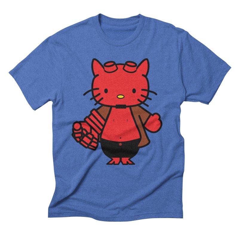 HELL KITTY Men's Triblend T-Shirt by Von Grey's Artist Shop