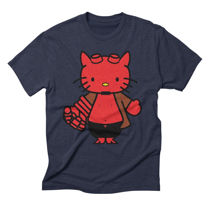 HELL KITTY Men's Triblend T-shirt by Von Grey's Artist Shop