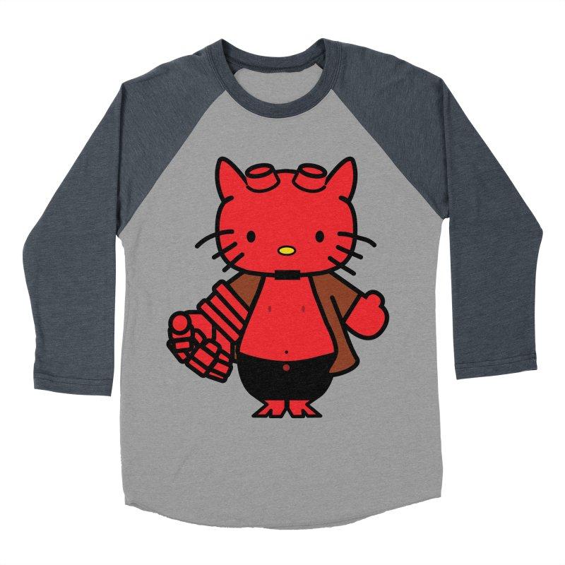 HELL KITTY Women's Baseball Triblend T-Shirt by Von Grey's Artist Shop