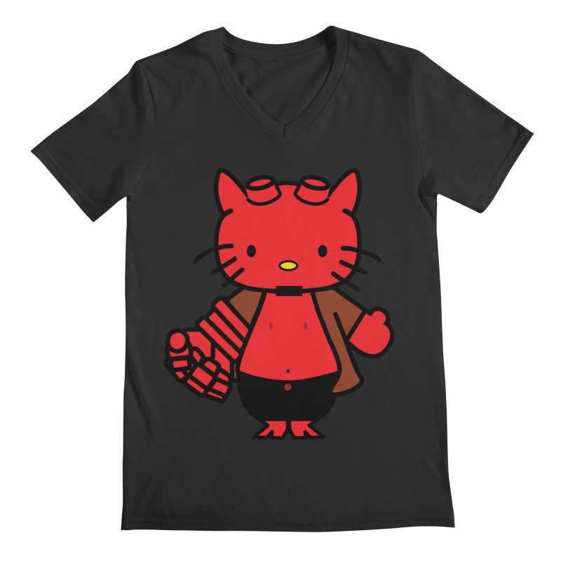HELL KITTY Men's V-Neck by Von Grey's Artist Shop