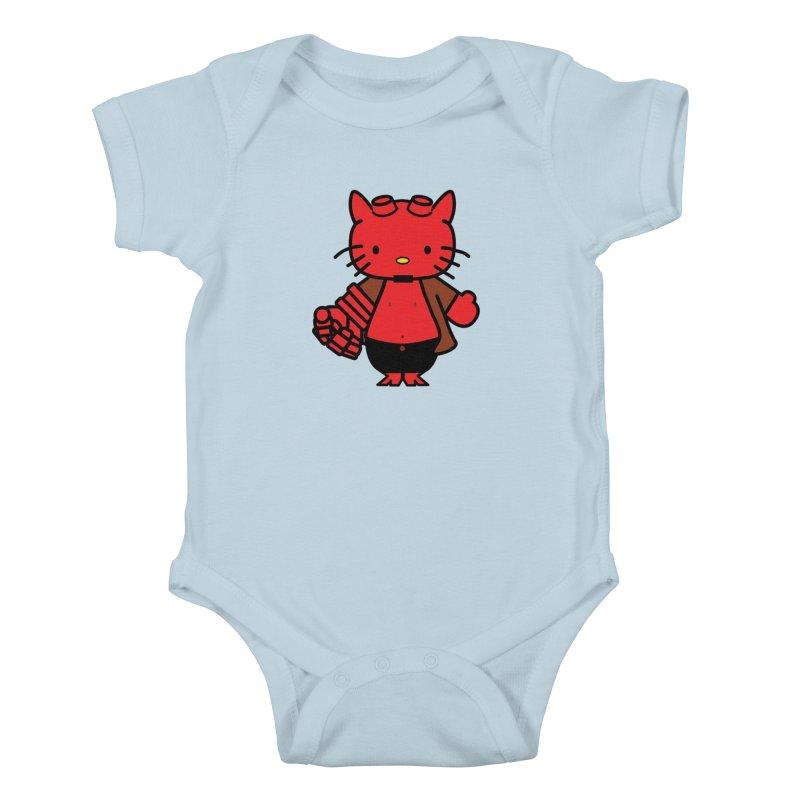 HELL KITTY Kids Baby Bodysuit by Von Grey's Artist Shop