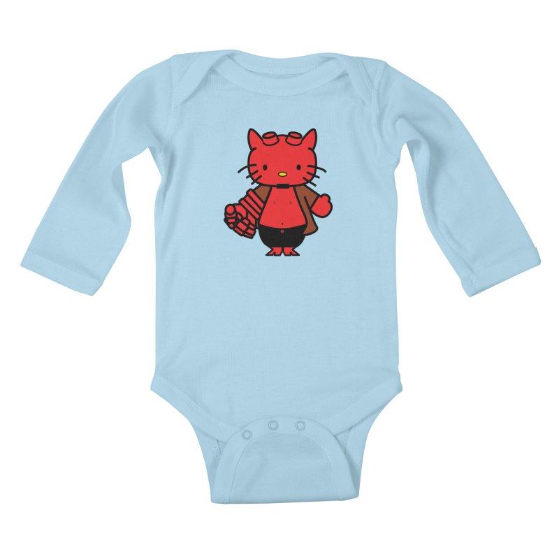 HELL KITTY Kids Baby Longsleeve Bodysuit by Von Grey's Artist Shop