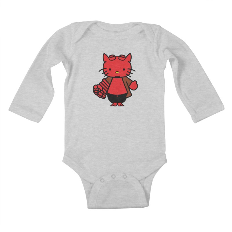 HELL KITTY Kids Baby Longsleeve Bodysuit by Von Grey's Artist Shop