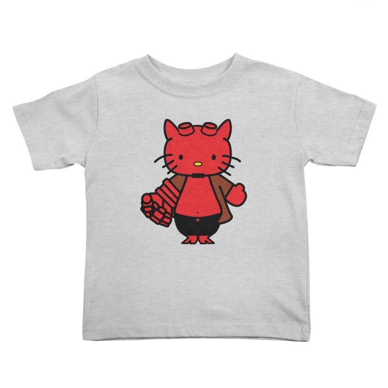 HELL KITTY Kids Toddler T-Shirt by Von Grey's Artist Shop