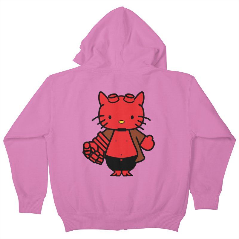 HELL KITTY Kids Zip-Up Hoody by Von Grey's Artist Shop