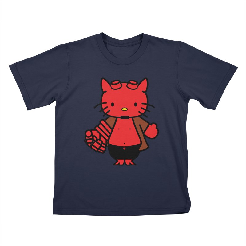 HELL KITTY Kids T-Shirt by Von Grey's Artist Shop