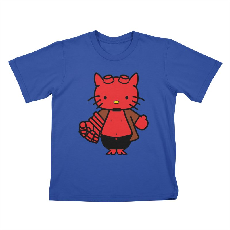 HELL KITTY Kids T-shirt by Von Grey's Artist Shop