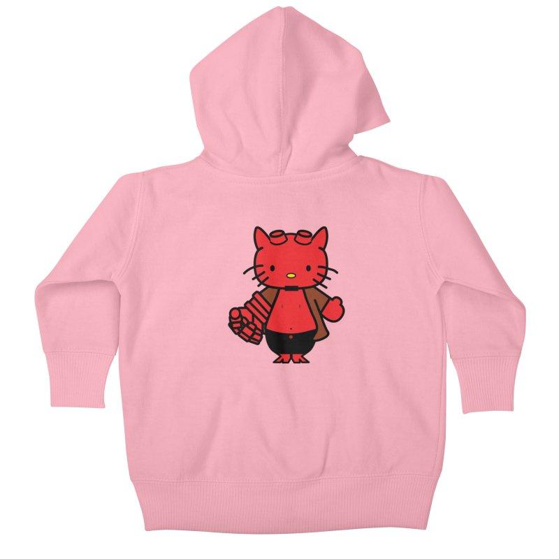 HELL KITTY Kids Baby Zip-Up Hoody by Von Grey's Artist Shop