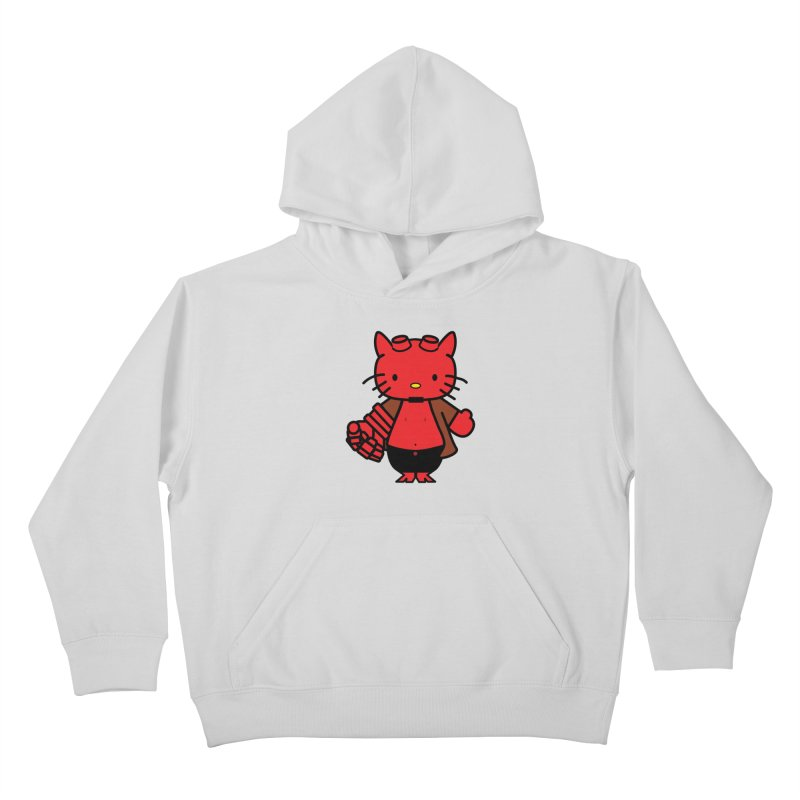 HELL KITTY Kids Pullover Hoody by Von Grey's Artist Shop