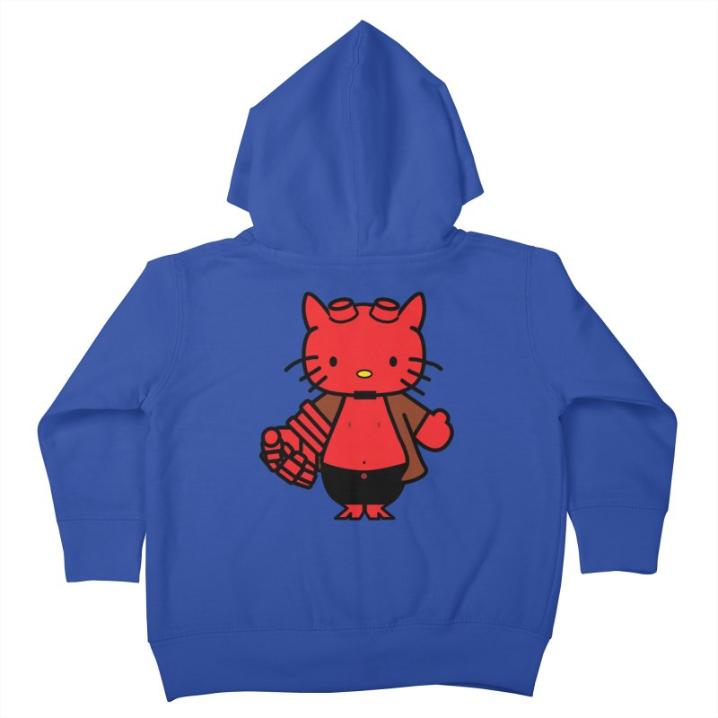 HELL KITTY Kids Toddler Zip-Up Hoody by Von Grey's Artist Shop